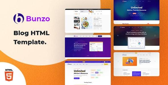Bunzo:简洁大气的博客Blog主题html网页模板 基于Bootstrap 5