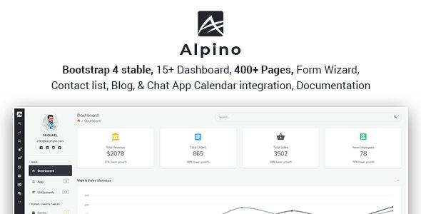 Alpino:多功能后台管理界面html模板 基于Bootstrap 4
