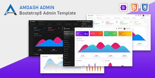 Amdash:豪华多功能后台管理界面html5模板 基于Bootstrap 5