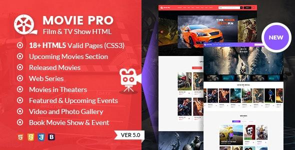 Movie Pro:红色主题国外TV电视电影网站html5网页模板