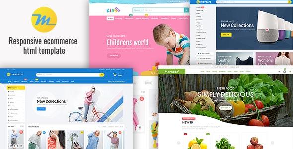 Marazzo:蓝色宽屏在线商城网站html5模板