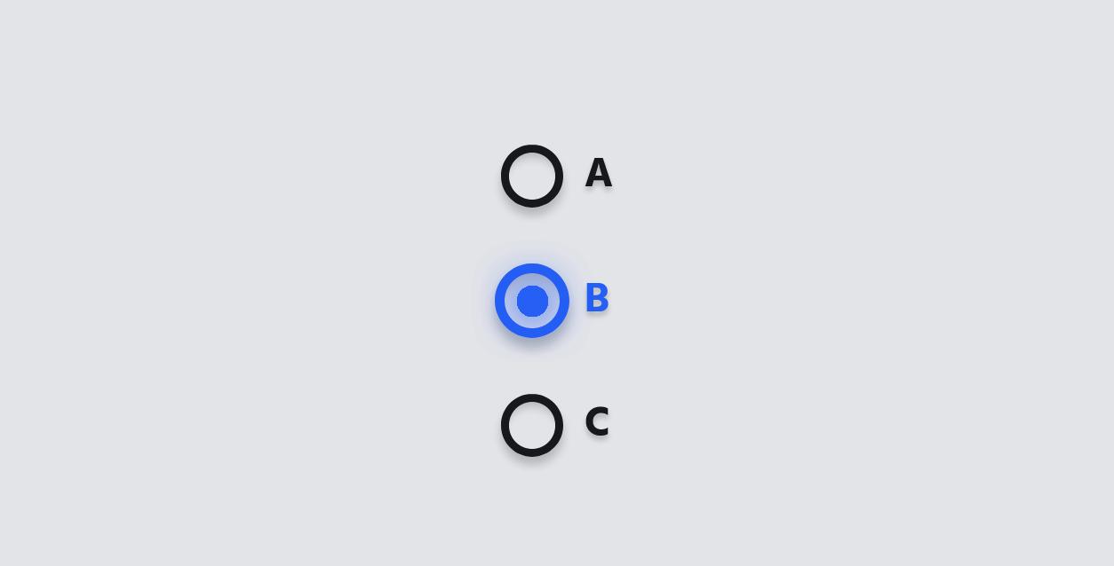 非常漂亮的radio单选按钮切换动效代码