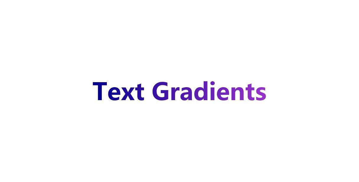 CSS实现文字颜色渐变网页特效代码