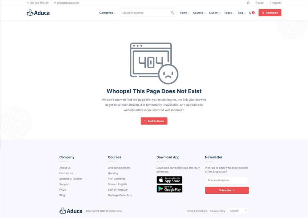 Aduca:国外在线课程学习网课平台html5模板3